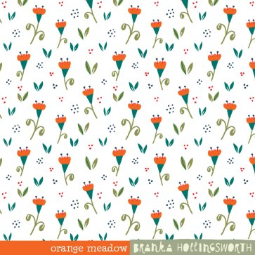 Pattern Orange Meadow by Branka Hollingsworth